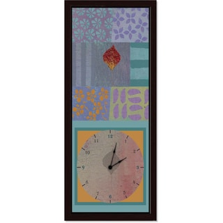 Ankan 'Leave in Purple' Clock Art