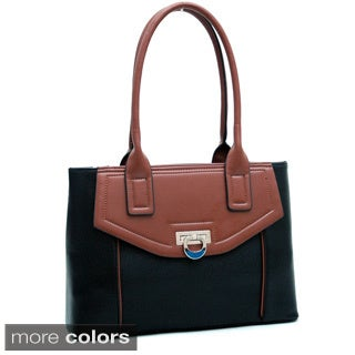 Dasein Classic Two-town Faux Leather Shoulder Bag