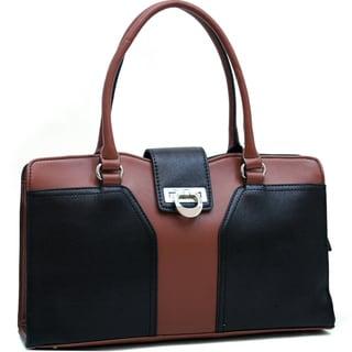 Dasein Classic Color-block Faux Leather Shoulder Bag