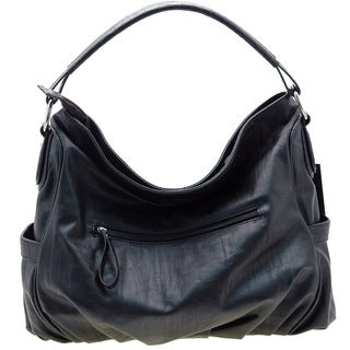 Dasein Croco Embossed Hobo Bag