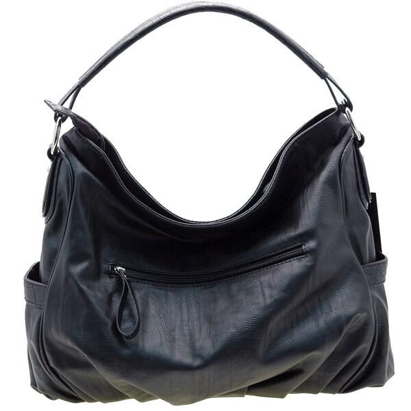 Dasein Croco Embossed Hobo Bag