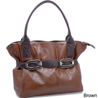 Dasein Double Buckle Tote Bag