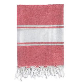 Classic Red Stripe Turkish Fouta Bath/ Beach Towel