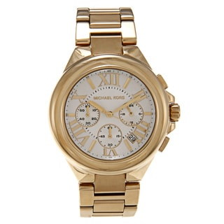Michael Kors Women's 'MK5635' Goldtone White Dial Watch