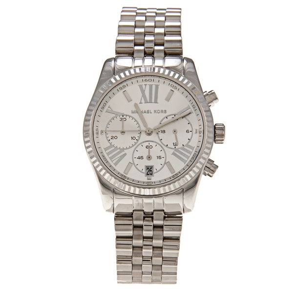 Michael Kors Women's 'MK5555' Stainless Steel Silvertone Watch