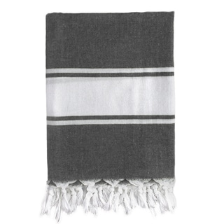 Classic Gray Stripe Turkish Fouta Towel
