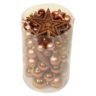 Chocolate Brown 100-piece Christmas Ornament Kit