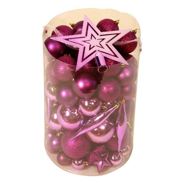 Purple 100-piece Christmas Ornament Kit