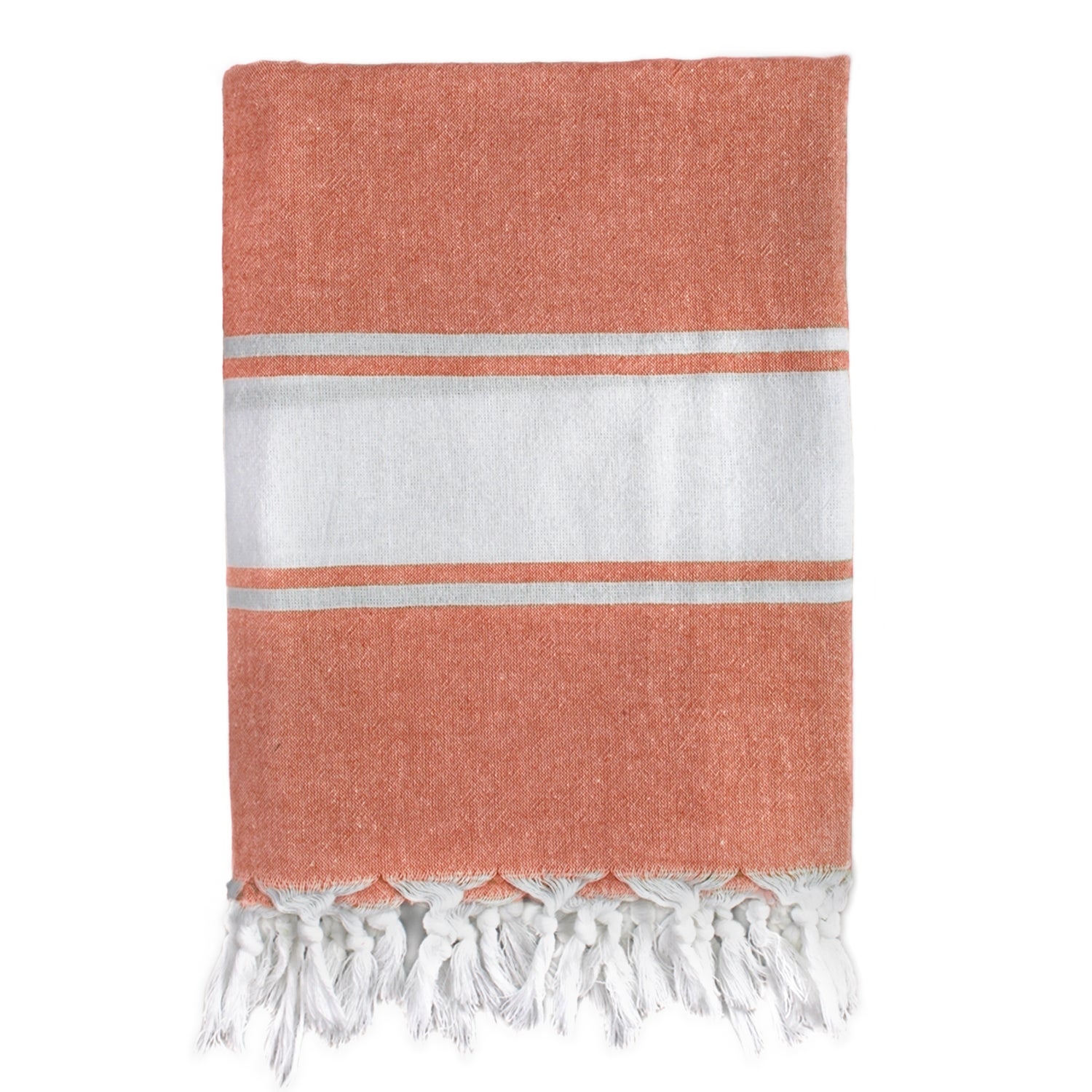 Classic Orange Stripe Turkish Fouta Bath/ Beach Towel (Orange Materials 100 percent Turkish Cotton Care instructions Machine wash cold. Gentle cycle with like color. No bleach mild detergent. Tumble dry low. Dimensions 36 inches x 67 inches The digital