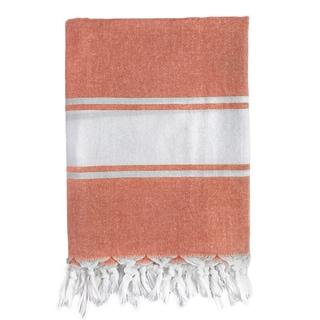 Classic Orange Stripe Turkish Fouta Bath/ Beach Towel