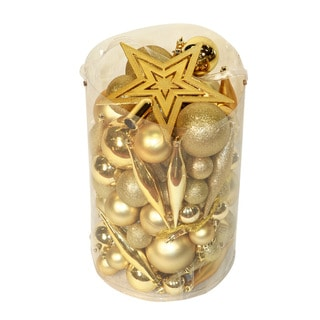 Gold 100-piece Christmas Ornamnet Kit