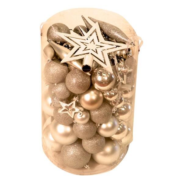 Silver 100-piece Christmas Ornament Kit
