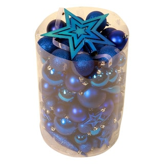 Blue 100-piece Christmas Ornament Kit