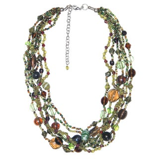 Handmade Green Island Glass Necklace (India)