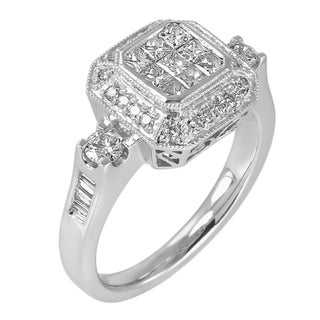 14k White Gold 1ct TDW Diamond Composite Ring (G-H, I1-I2)