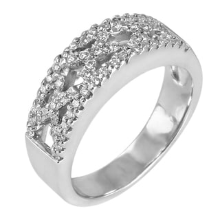 14k White Gold 1/3ct TDW Diamond Anniversary Band (G-H, SI1-SI2)