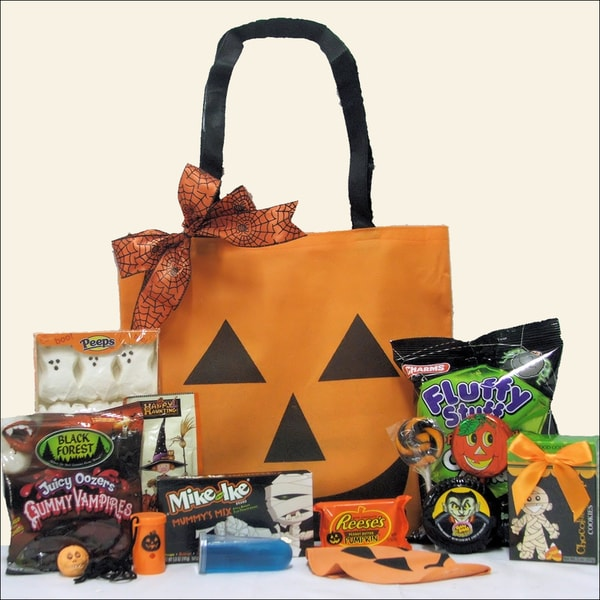 Jack o' Lantern Treats Halloween Gift Basket for Tween Boy