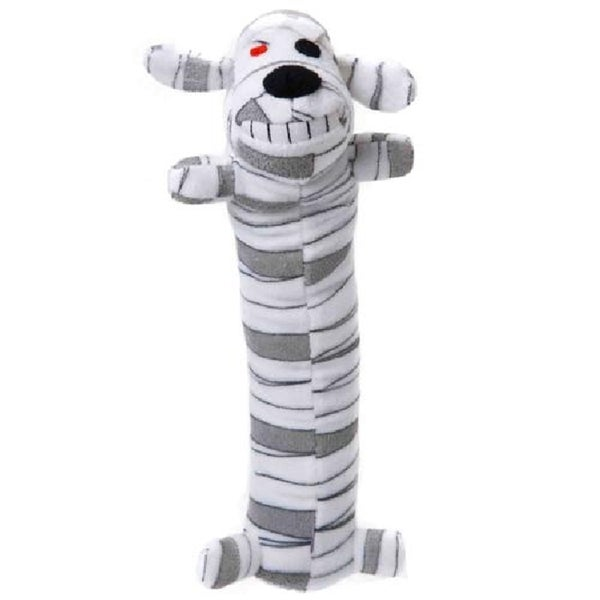 Loofa Dog Halloween 12-inch Plush Mummy Dog Toy