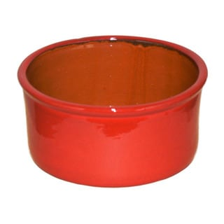 Terafeu French Refractory Clay 8-inch Red Souffle Dish