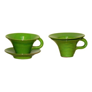 Terafeu French Hand-made Tea Cup Saucer Set