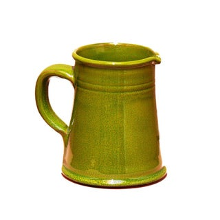 Terafeu French Hand-made 1 Quart Provencial Green Pitcher