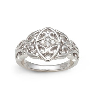 Sterling Silver 1/10ct TDW Diamond Celtic Design Ring (H-I, I2-I3)