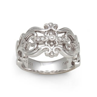 Sterling Silver 1/10ct TDW Diamond Filigree Ring (H-I, I2-I3)