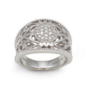 Sterling Silver 1/6ct TDW Diamond Ring (H-I, I2-I3)