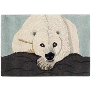 Handmade Safavieh Wildlife Polar Bear Wool Rug (2' x 3')