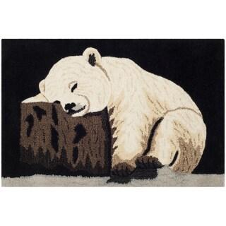 Handmade Safavieh Wildlife Polar Bear Cub Wool Rug (2' x 3')