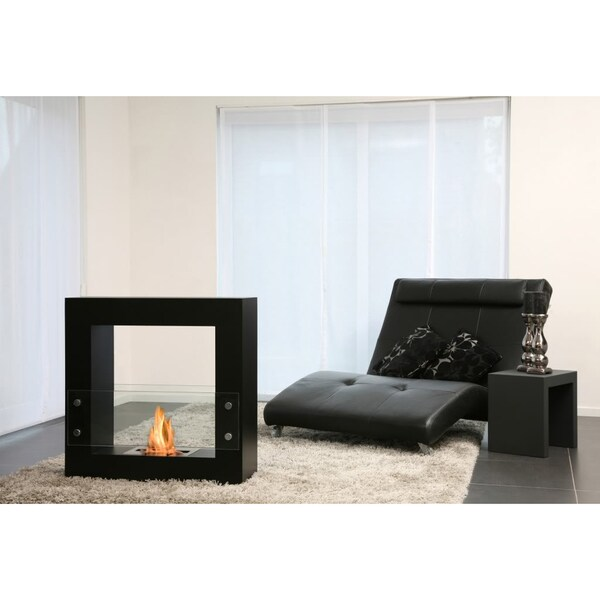 Bio-Blaze Qube Bio Ethanol Small Black Free Standing Fireplace