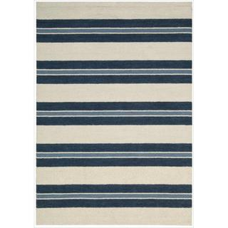 Barclay Butera Awninig Stripe Oxford Rug (7'9 x 10'10) by Nourison