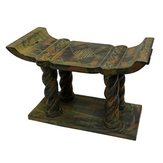 Hand-crafted Ashanti &#39;Nkyim&#39; Stool (Ghana)