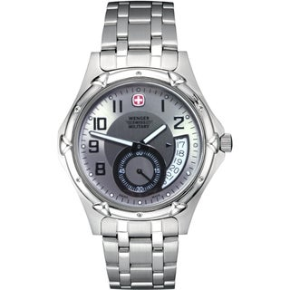 Wenger Men's Standard Issue XL Silver Subdial Watch (Refurbished)