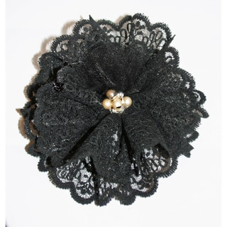 Black Lace Magnetic Brooch