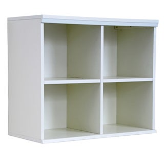 'Makena' White Quad Modular Storage Shelf