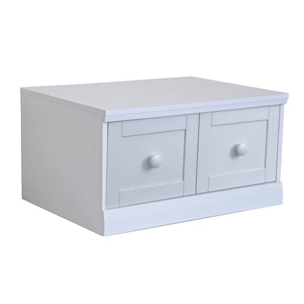 'Makena' Popcorn White 1-drawer Modular Storage Base