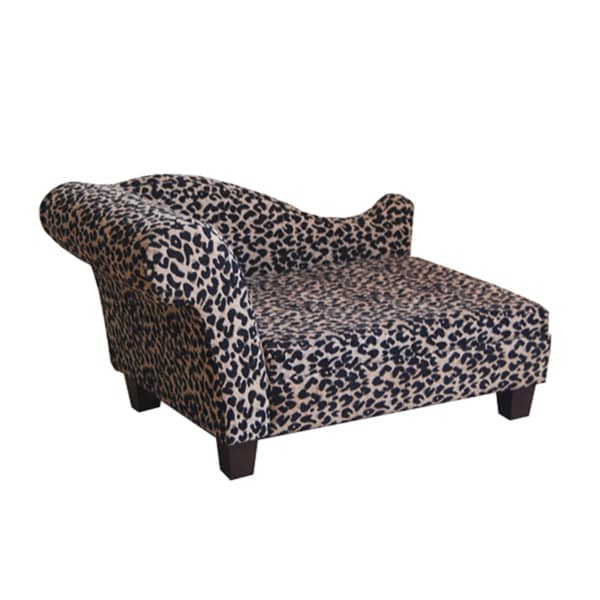 Luxury Pet Bed Leopard Chenille