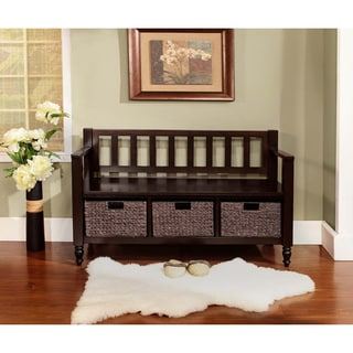 Bradwick Dark Exeter Brown Entryway Storage Bench | Overstock.com