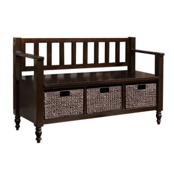 Bradwick Dark Exeter Brown Entryway Storage Bench Overstock Shopping Great Deals On