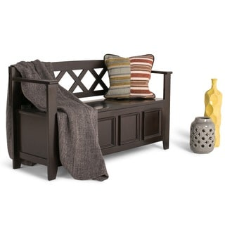 Halifax Dark American Brown Entryway Storage Bench