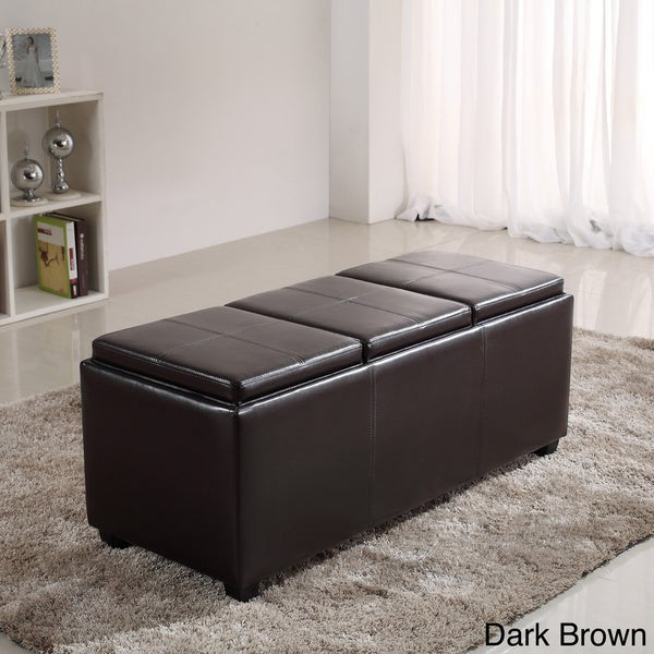 Franklin Extra Large Rectangular Faux Leather Storage