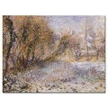 Pierre Renoir 'Snowy Landscape' Canvas Art