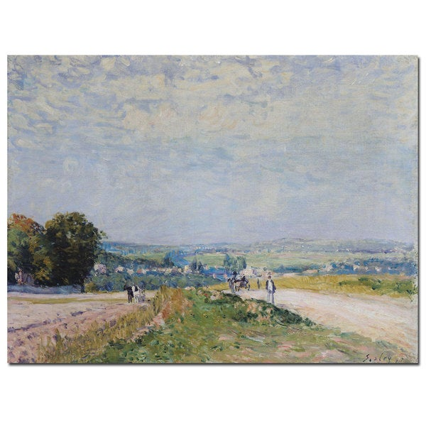 Alfred Sisley 'Road to Montbuisson at Louveciennes' Canvas Art