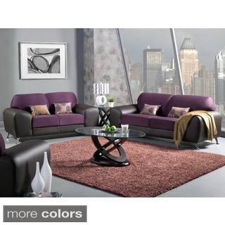 Furniture of America Mara Clara 2-Piece Contemporary Sofa/ Loveseat Set