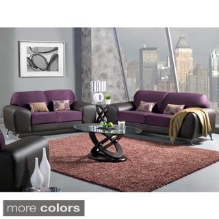Furniture of America Mara Clara 2-Piece Contemporary Sofa/ Loveseat Set