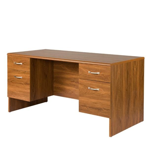 Autumn Oak Executive Desk 14794248 Overstock Com