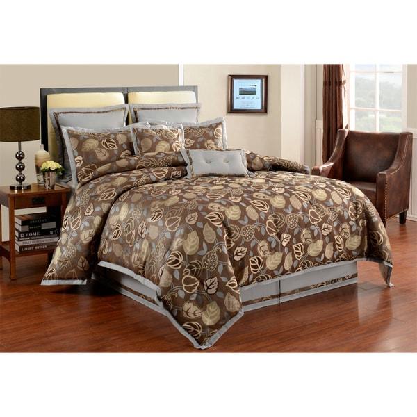 Serendipity Graphite 8-piece Comforter Set