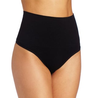 Stanzino Women's Black Girdle Thong Panties