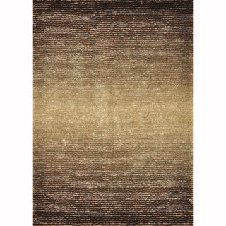 Hand-tufted Josephine Brown Rug (9'3 x 13')